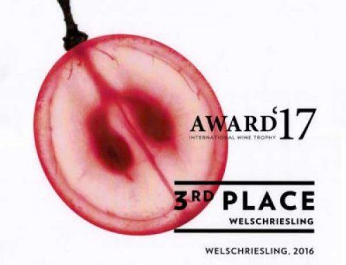 3. Platz in der Kategorie WELSCHRIESLING