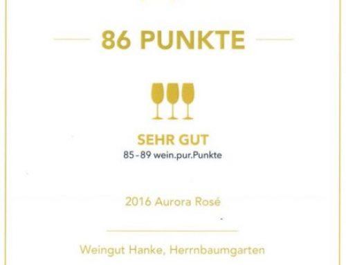 Aurora Rosé 2016 at the Wein.pur Trophy 2017
