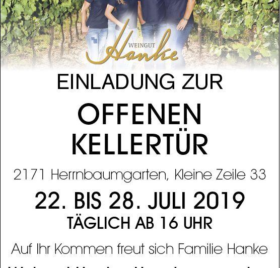 Einladung Offene Kellertür 2019